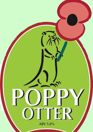 Otter Brewery Poppy Otter pump clip